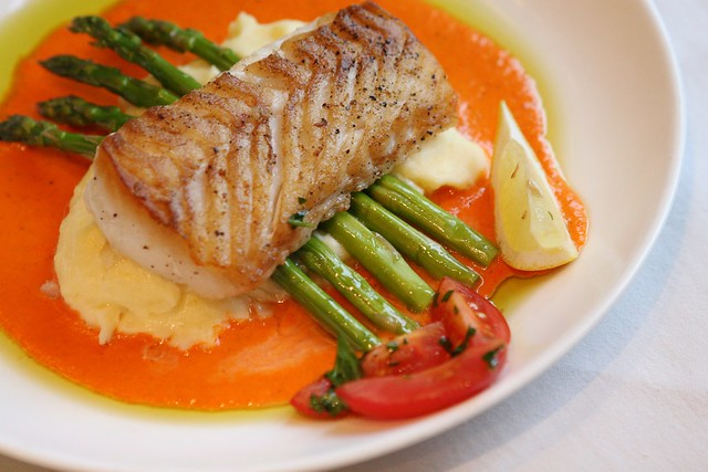 'Cesca Slow Roasted Cod with Fresh Pepper Cream