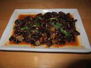 Silkworm larvae appetizers, Little Seoul II | by Joel Abroad