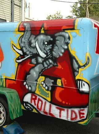 Old School University of Alabama logo | Detail of a trailer … | Flickr