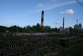 Chimneys and rail tracks