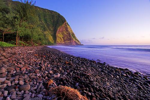 beach sunrise hawaii bigisland waimanu 23119