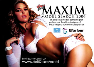 Coors Light Maxim Model Search Flyer | by andresra