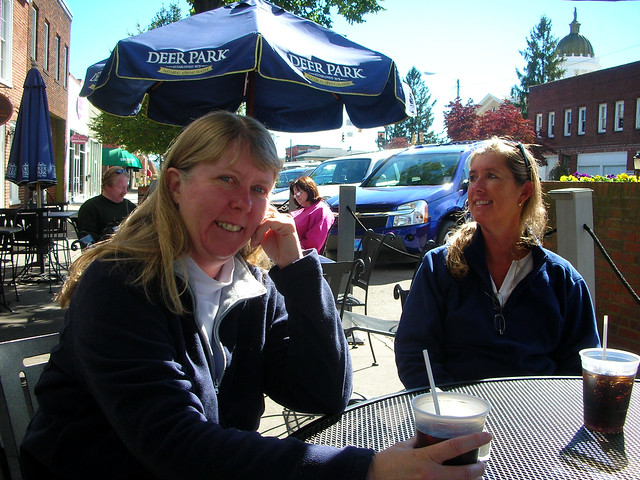Laura and Amy in Hendersonville
