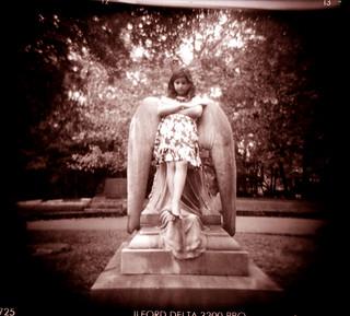 bored angel | by Laura Burlton - www.lauraburlton.com