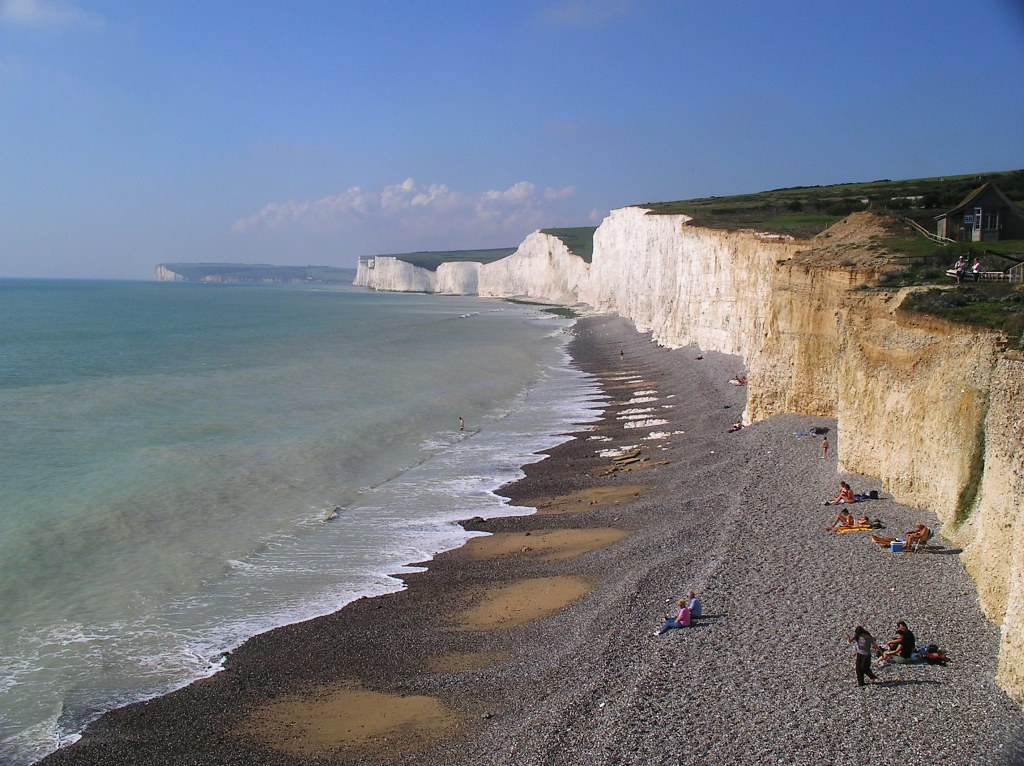 Book 2, Walk 28, Seaford to Eastbourne The Seven Sisters from Birling Gap, 23 Sept 2006