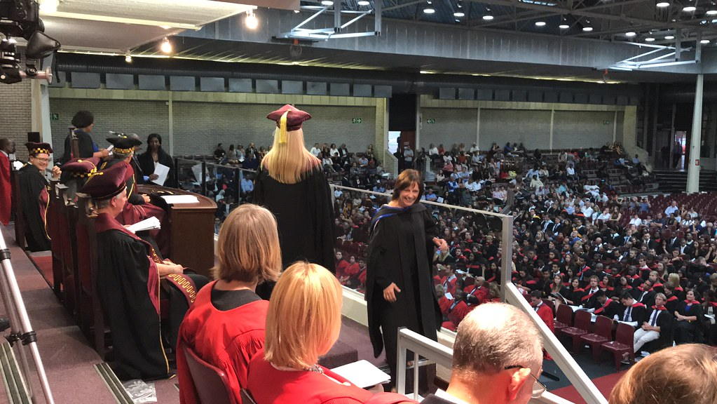 Stellenbosch University Graduation 2018 - my wife, Megan