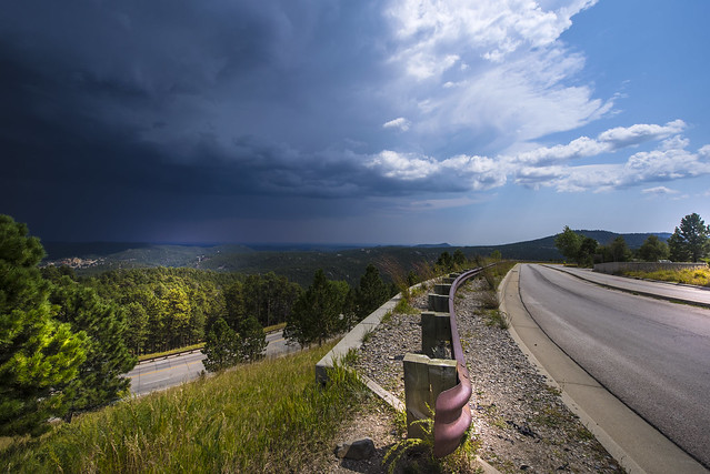 Thunderstorm approach near Mt Rushmore National Memorial - South Dakota - USA