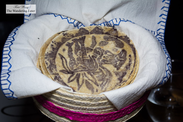 Fresh made tortillas with a special print