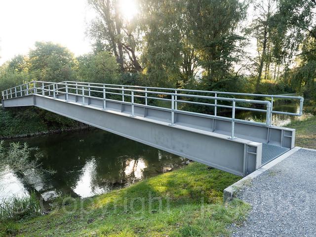 GLA050 Chimlibach Bridge (2008) over the Glatt, Schwerzenbach - Faellanden, Canton of Zurich, Switzerland