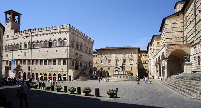 Piazza IV Novembre in the heart of Perugia