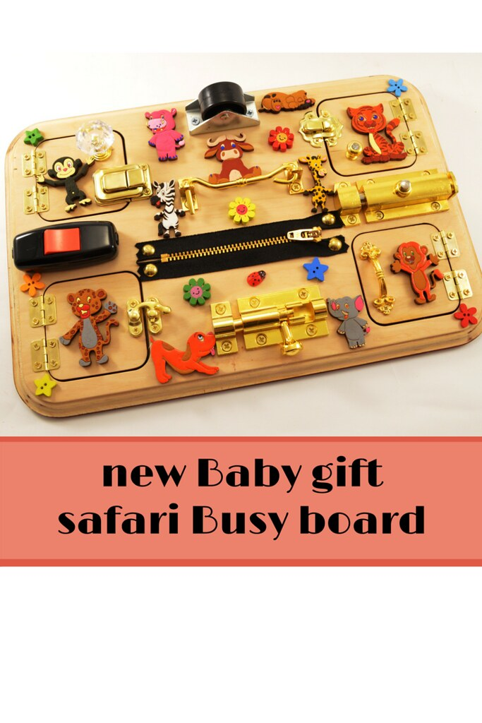 Busy board for toddler Occupational Therapy Travel busy board Wooden Toys