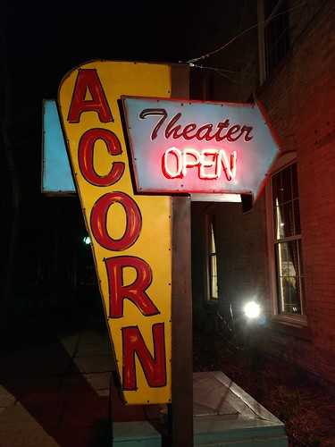 Three Oaks, Michigan - Acorn Theater Sign | by Darrell Harden