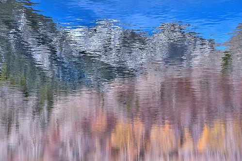eechillington nikond7500 viewnxi corelpaintshoppro bellscanyon utah hiking water reflections nature impressionistic