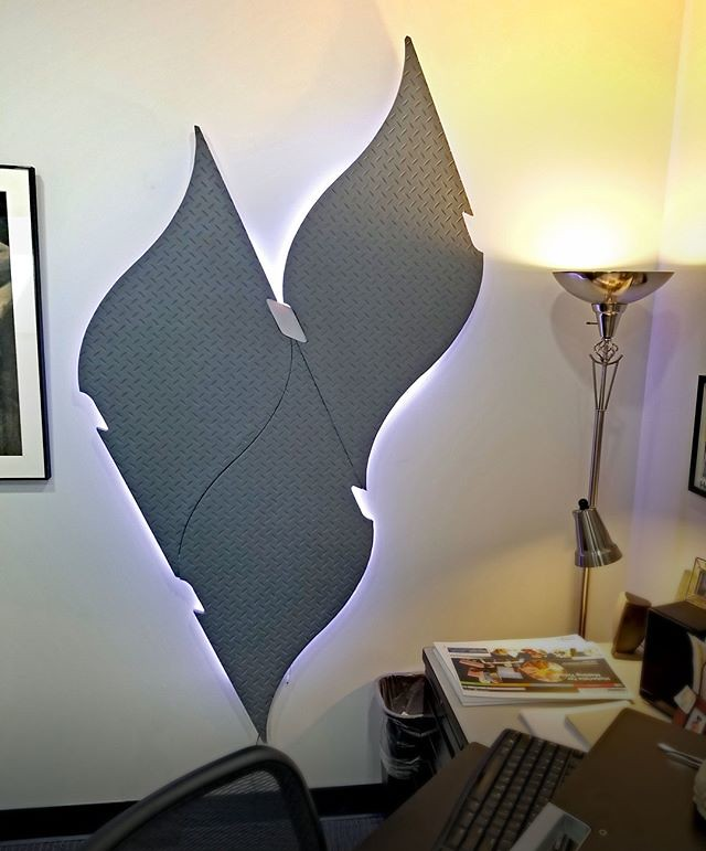 Check out this backlit wall art created using Smooth-On NE