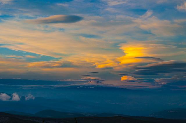 Lenticulars Over Mt Adams