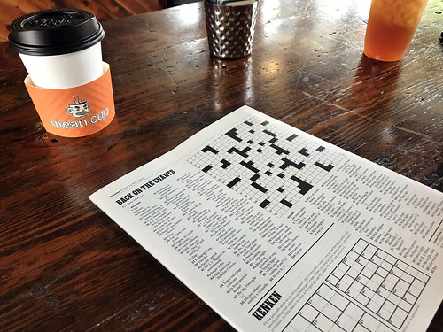 Sunday NYT Crossword at Mean Cup | by Steam Pipe Trunk Distribution Venue