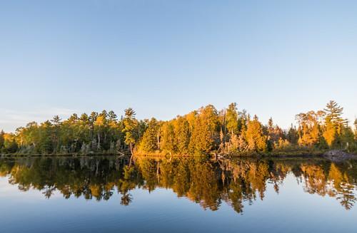 bearheadlakestatepark ely grassylakebay minnesota autumn fall statepark sunset unitedstates us
