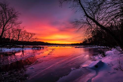 snow va rva jamesriverparksystem jrps jamesriver sunrise