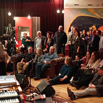 Tue, 06/03/2018 - 8:45pm - Producer, songwriter, guitarist Jonathan Wilson and his band perform for WFUV members at Electric Lady Studios in New York City. 3/6/18 Hosted by Rita Houston. Photo by Gus Philippas/WFUV