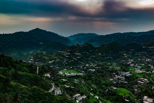 islamabad islamabadcapitalterritory pakistan pk talhaar margalla nature rural landscape dusk sunset sundown blue hour golden orange green village