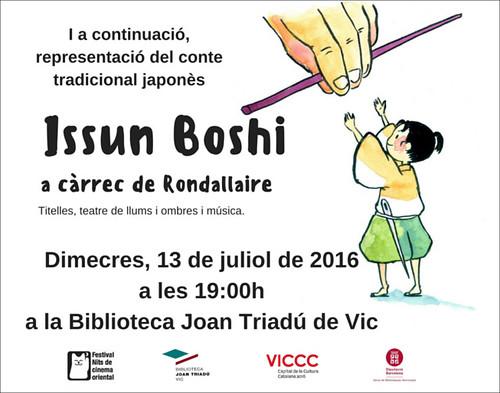REPRESENTACIÓ DEL CONTE: 'Issun Boshi' a càrrec Rondallaire