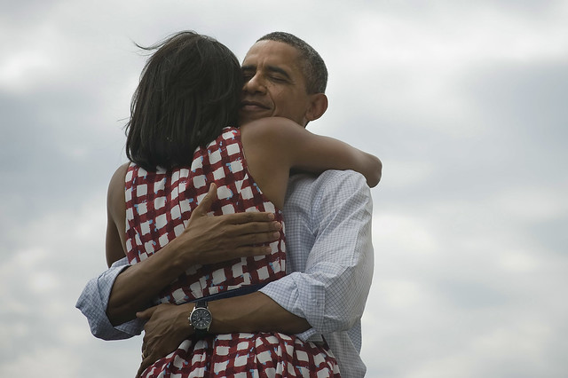 Barack and Michelle Obama in Dubuque, Iowa—August 8th