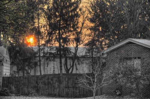 ohio sun sunrise geotagged nikon frost raw nef selectivecolor earlywinter cs5 d3s starkcountyohio niksep nikkor24120f4vr