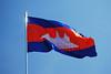 Kambodžská vlajka v areálu královského paláce, foto: Andrea Filičková