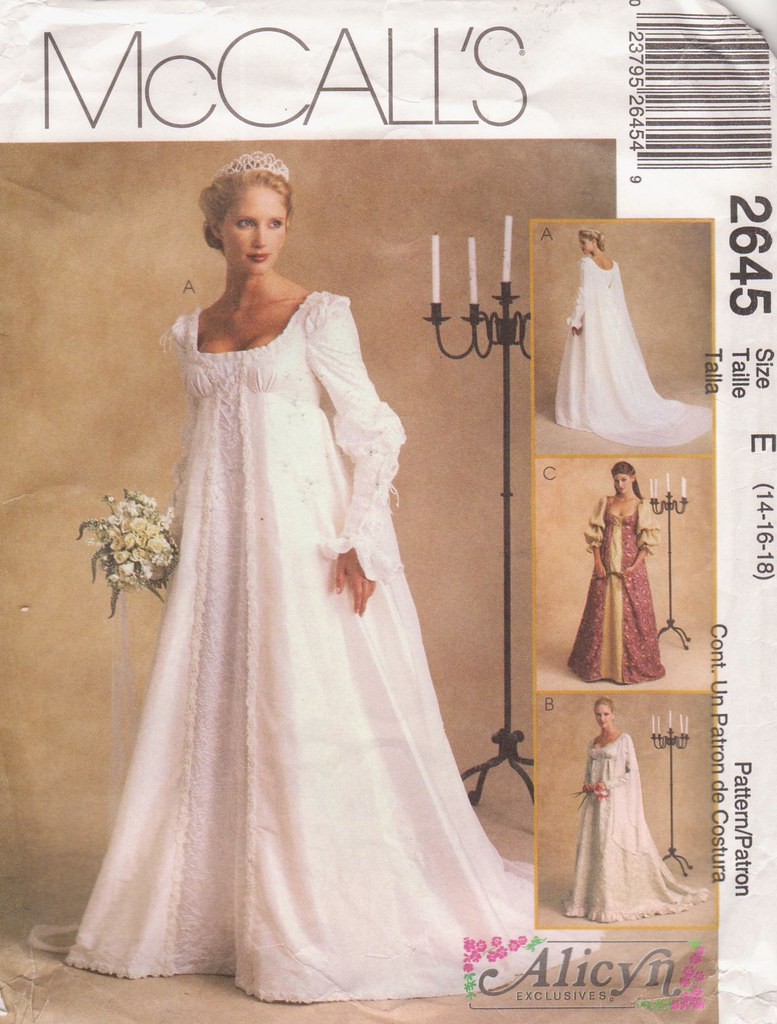 Renaissance Wedding Dress.Misses Bridal Gown Size 14 16 18 Mccalls 2645 Sewing Patte Flickr