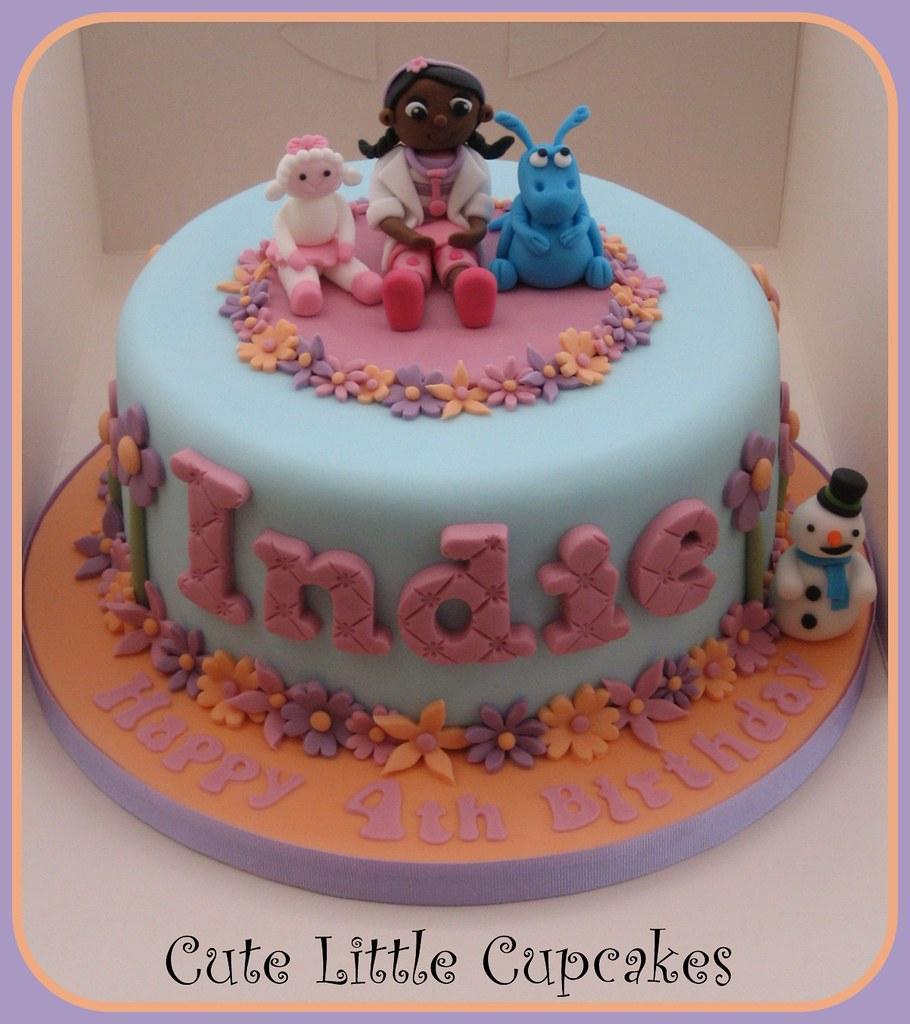 Astounding Doc Mcstuffins Cake 8 Vanilla Cake For A 4Th Birthday Top Flickr Funny Birthday Cards Online Inifodamsfinfo