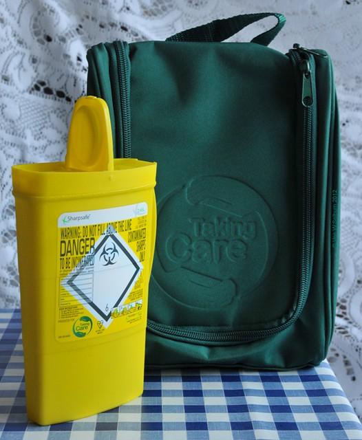 Bag and sharps box