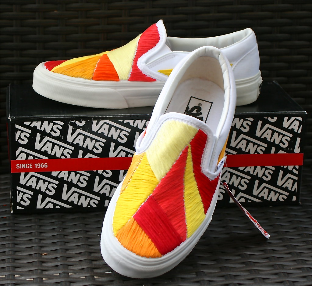bef4f7ab25f3db ... Custom Vans Shoes - Sunnyside Lemon