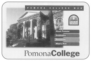 An image from Pomona College's first official web home page in 1995