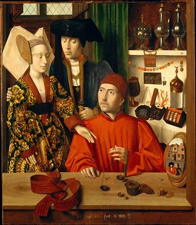 Petrus Christus - A Goldsmith in His Shop [1449] | by Gandalf's Gallery