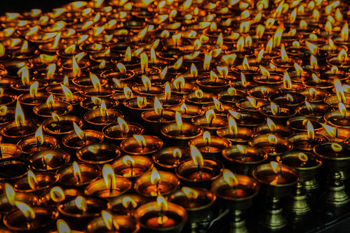 candle lights in tibet | by tobiasbegemann
