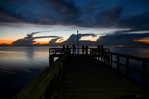 mobile daphne alabama pier sunset clouds water bay sunsetwatchers seascape colors pentax k50 sigma 1750mm