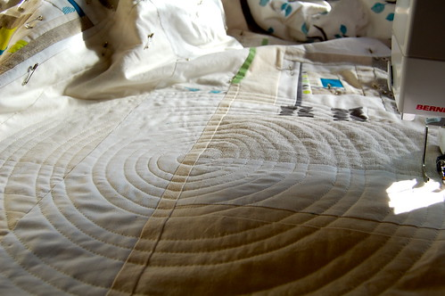 working on some more circle quilting