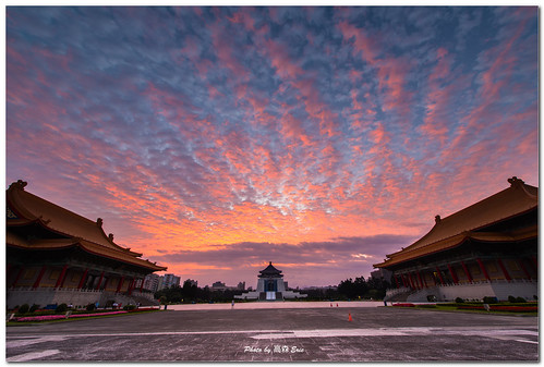 morning sky clouds sunrise nikon taiwan 台灣 天空 d800 taipeicity libertysquare 台北市 中正紀念堂 日出 雲彩 chiangkaishekmemorialhall 早晨 自由廣場 142428g