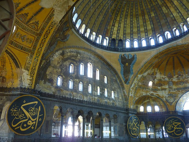 Interior Aya sofia, Istanbul