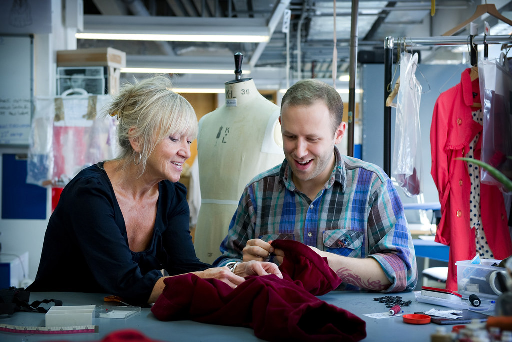 Mal Barton, Head of Costume Workshops, and Robin McGrorty, Costume Apprentice © ROH/Sim Canetty Clarke