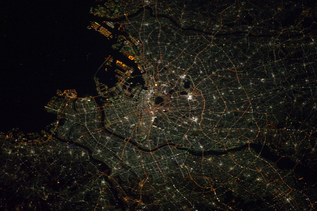 Tokyo at Night (NASA, International Space Station, 11/14/12)
