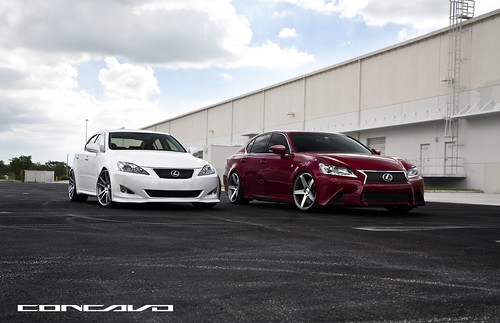 Lexus IS 250 & Lexus GS F Sport. Showing some double LOVE. | by Concavo Wheels