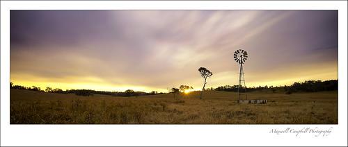longexposure sunset sky panorama cloud windmill field landscape gold farm australia qld queensland outback beaudesert stunningskies maxwellcampbell