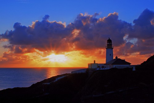 lighthouse sunrise coast douglas isleofman