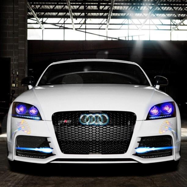 Led Per Auto Tuning.Audi Tt Rs Turbo Tuning Led Rings White Auto Car