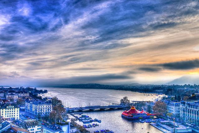 Lake Zurich - Zurich Switzerland in HDR