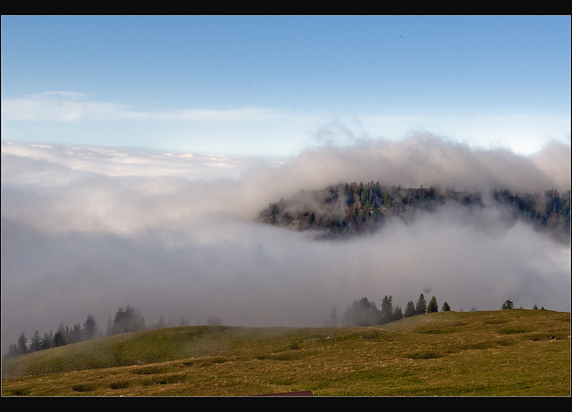 Switzerland, a view from the Chasseral (1,606m alt) to the see of clouds.9 October 10,2010. no.83.