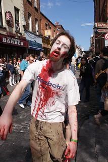 Parada de Zombies em Temple Bar