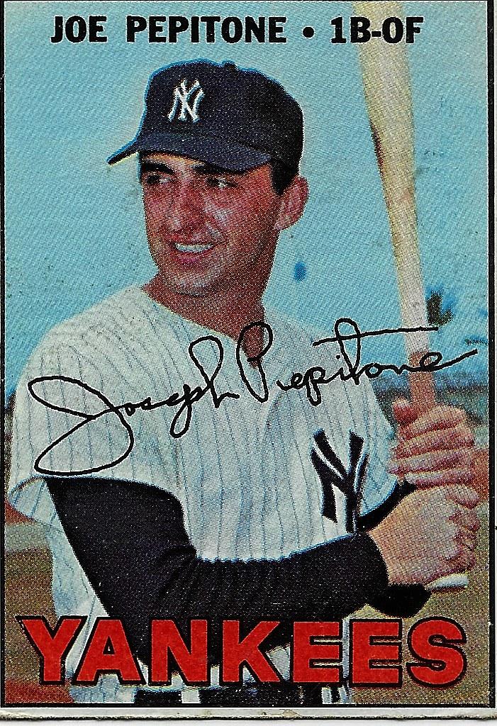 Joe Pepitone Baseball Card After 1966 Season Steve Burns Flickr