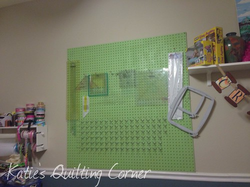 Pegboard mounted with hooks | by MagnoliaFly